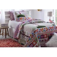 Colcha Solteiro Matelasse Infantil 180X 220 Flor Rozac - Multicolorido - Dafiti