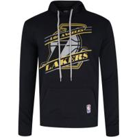 Blusão De Moletom Com Capuz Nba Los Angeles Lakers - Masculino - Preto