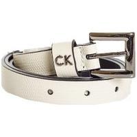 Cinto Couro Calvin Klein - Feminino-Branco