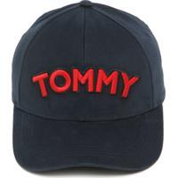 Boné Tommy Hilfiger Strapback Logo Azul-Marinho f50f6a4caa9