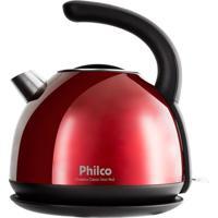 Chaleira Elétrica Philco 1,7L Classic Inox Red 127V
