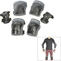 Kit Proteção Patins Skate Winmax Preto Wme05718