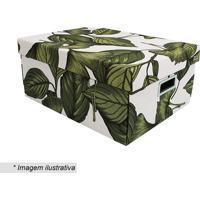 Caixa Organizadora Amazã´Nia Grande- Verde & Branca- Boxmania