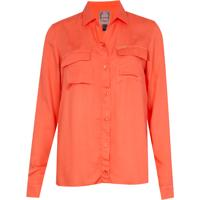 Camisa Rosie Pockets Coral