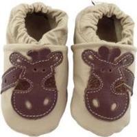 Pantufa Catz Calçados Infantil Couro Nicky Girafa - Unissex-Marrom