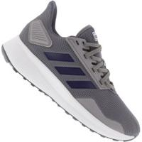Tênis Adidas Duramo 9 - Masculino - Cinza/Azul Esc