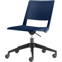 Cadeira Up Assento Azul Base Rodizio Piramidal Em Nylon - 54311 - Sun House