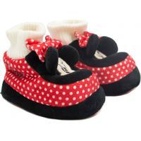 Pantufa Infantil Flat Ricsen Minnie Mouse Feminina - Feminino-Vermelho