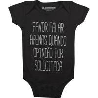 Favor Não Falar - Body Infantil