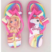 9da991c33f Chinelo Infantil Ipanema Barbie E Unicórnio Com Laço Pink