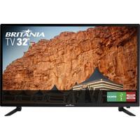 """Tv Led 32"""" Britânia Btv32C30D Hd Conversor Integrado Bivolt"""