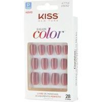 Unhas Postiças Salon Color Curto Kiss New York Beautiful - Feminino-Bege