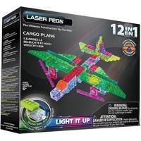 Blocos De Montar Laser Pegs Avião De Carga 12 Em 1 Verde