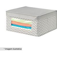 Caixa Organizadora Axis- Cinza & Branca- 15,2X29,2X2Hudson