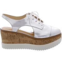 Oxford Cut Out Flatform Prata | Schutz