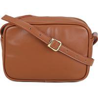 ... Bolsa Dergham Mini Bag Quadrada Transversal Feminina - Feminino-Caramelo 6cbd335cc9a