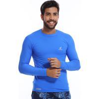 Camiseta Bamborra Proteção Solar Uv Azul Piscina