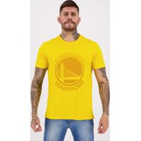 Camiseta New Era Nba Golden State Warriors Brand Amarela
