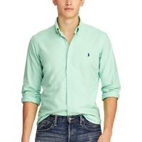 Camisa Ralph Lauren Masculina Custom Fit Oxford Verde