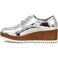 Sapato Quiz Metalizado Prata