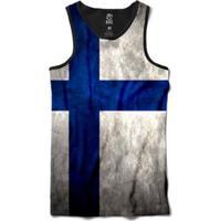 Regata Bsc Bandeira Finlândia Sublimada Masculina - Masculino-Preto
