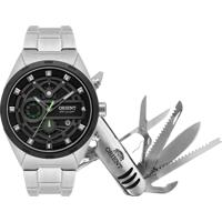 Relógio Orient Masculino Mbssc176 Kv87P1Sx Pulseira E Caixa Aço Mostrador Preto