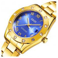 Relógio Feminino Oubaoer 6092L - Dourado E Azul