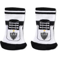 Meia Reve D'Or Sport Chuteira Atlético Mineiro Branca E Preta