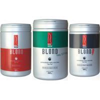 Red Iron Blond Descoloração Kit 3 Pós Descolorantes Red Iron 400G - Feminino-Incolor