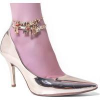 05ff09be6 Território da Moda  Sapato Vizzano 1184.164 Feminino Metal Glamour Metálico  Dourado