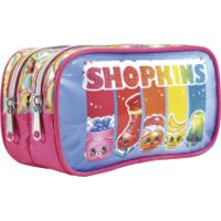 Estojo Duplo Shopkins Rainbow Party