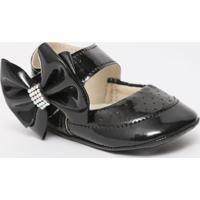 Sapato Boneca Com Laã§O & Termocolantes - Preto- Ticctico Baby