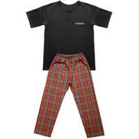 Pijama Adulto Look Jeans Pai E Filho Masculina - Masculino