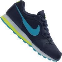 Tênis Nike Md Runner 2 - Infantil - Azul Esc/Verde Cla