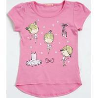 Blusa Infantil Estampa Bailarina Marisa