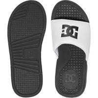 Chinelo Dc Shoes Slider Bolsa - Masculino-Branco