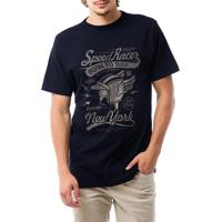 Camiseta Ukkan Speed Racer Azul Marinho