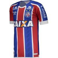 Camisa Umbro Bahia Oficial 2 2017/2018 Masculina - Masculino-Azul+Vermelho