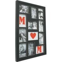 Painel Bee Collection Words Mom 9 Fotos 10X15Cm Preto Kapos
