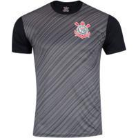 Camiseta Do Corinthians Stroke 18 - Masculina - Preto/Cinza Esc