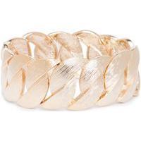 Bracelete Feminino Elos Amanhecer Em Metal - Ouro