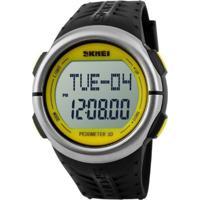 Relógio Skmei Digital Pedômetro 1058 Amarelo
