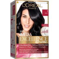 Coloração Imédia Excellence L'Oréal Paris 1 Preto - Unissex-Incolor