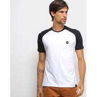 Camiseta Hd Raglan Ride Sk Masculina - Masculino-Branco