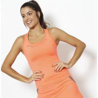 Regata Nadador Com Inscriã§Ã£O- Laranja Neon & Preta- Physical Fitness