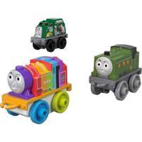 Mini Veículos - Thomas E Seus Amigos - Minis - Trash, Rainbow Belle E Duck - Fisher-Price