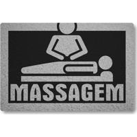 Tapete Capacho Massagem - Preto