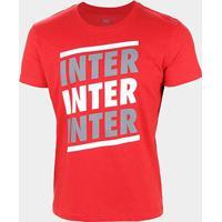 Camiseta Internacional Listras Retrô Mania Masculina - Masculino-Vermelho