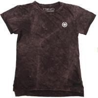 Camiseta Longline Stoned Estonada Basic Masculina - Masculino-Vinho