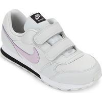Tênis Infantil Nike Md Runner 2 Velcro Masculino - Masculino-Cinza+Lilás